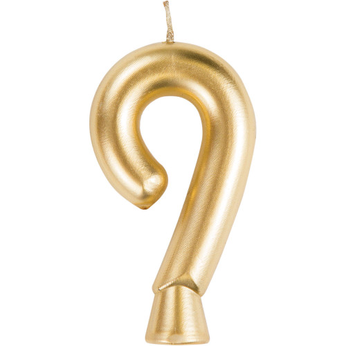 """Club Pack of 12 Gold """"9"""" Birthday Candles 2.75"""" - IMAGE 1"""