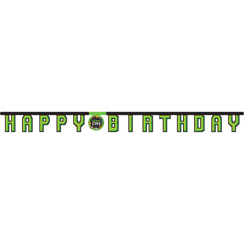 """Club Pack of 12 Green and Black Party Banner 84.75"""" - IMAGE 1"""