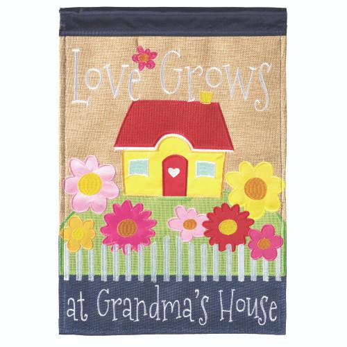 """Brown and Green Grandma's House Printed Flag 42"""" x 29"""" - IMAGE 1"""