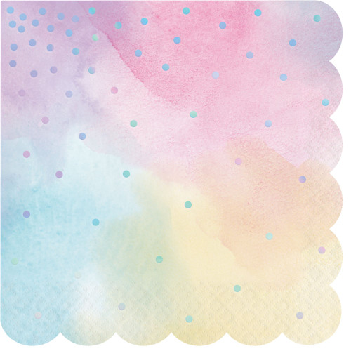 """Club Pack of 192 Pink and Blue 3-Ply Luncheon Napkins 6.5"""" - IMAGE 1"""