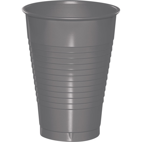 """Club Pack of 240 Glamour Gray Solid Party Cups 4.25"""" - IMAGE 1"""