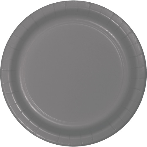 """Club Pack of 240 Gray Solid Dessert Plates 8.75"""" - IMAGE 1"""