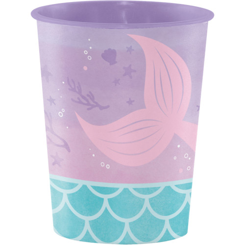 """Club Pack of 96 Purple and Blue Iridescent Mermaid Party Favor Cups 4.5"""" - IMAGE 1"""