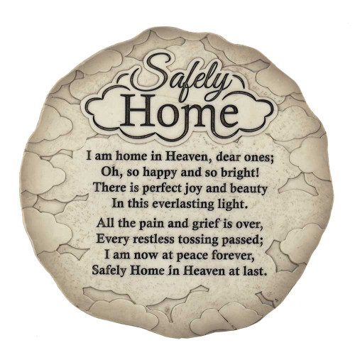 """9.5"""" Gray and Black Garden Stepping Stone Shaped Plaque - IMAGE 1"""