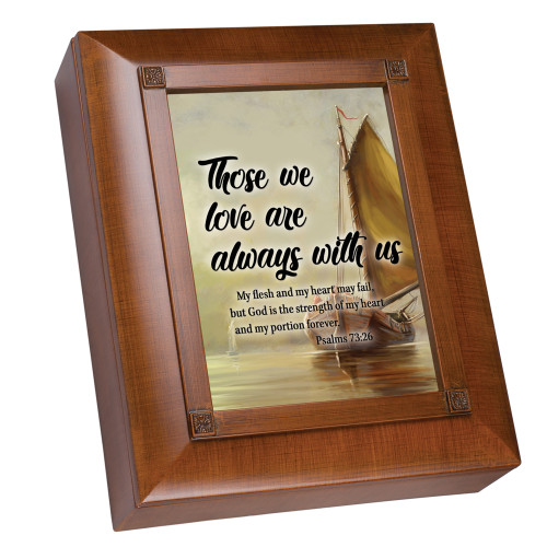"""10"""" Brown and Beige Remembrance Box with Heartfelt Poem - IMAGE 1"""