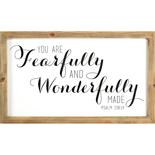 "28"" Brown and White Bible Quote Rectangular Wall Plaque - IMAGE 1"
