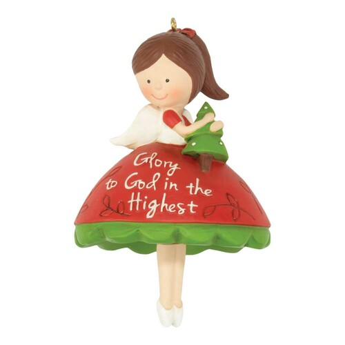 """Pack of 3 Red and Green Christmas Angel with Dangle Legs Hanging Ornaments 4"""" - IMAGE 1"""