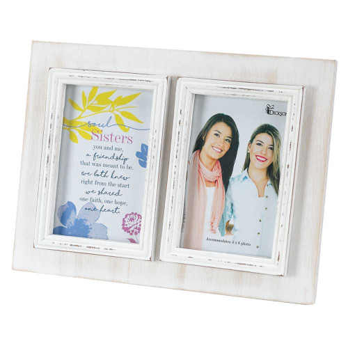 """11"""" Blue and Yellow """"Soul Sisters"""" Wordings Printed Photo Frame - IMAGE 1"""