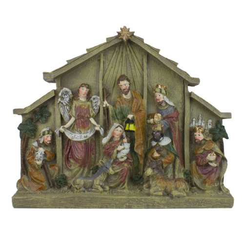"9.75"" Tabletop Nativity Scene Christmas Figure Decoration - IMAGE 1"