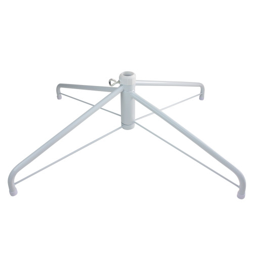 White Christmas Tree Stand for 9'-10' Artificial Trees - IMAGE 1