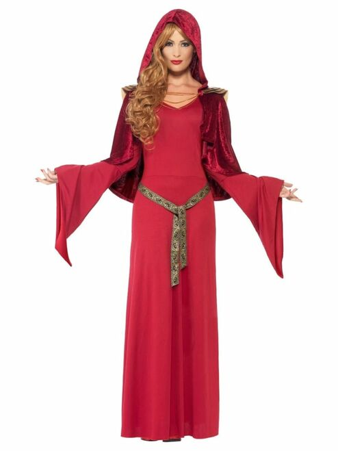 "49"" Red and Brown High Priestess Women Adult Halloween Costume - Medium - IMAGE 1"