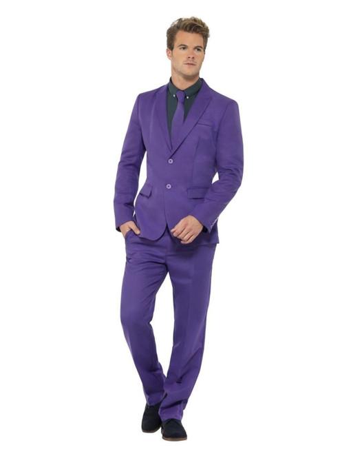 "39"" Purple Stand Out Suit Men Adult Halloween Costume - Medium - IMAGE 1"