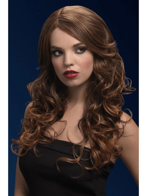 Brown Fever Nicole Soft Wave with Side Parting Women Adult Halloween Wig Costume Accessory - One Size - IMAGE 1