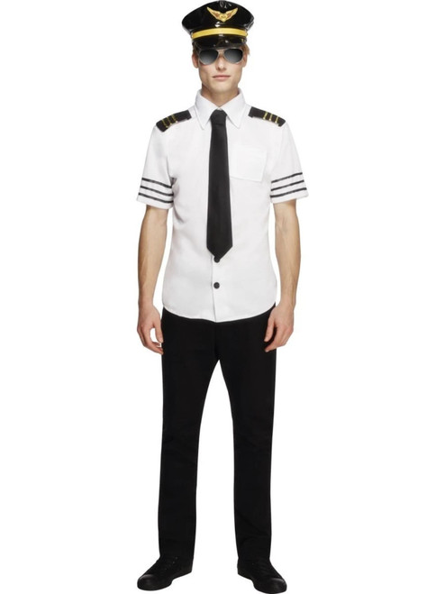 """49"""" Black and White Fever Mile High Men Adult Halloween Costume - Large - IMAGE 1"""