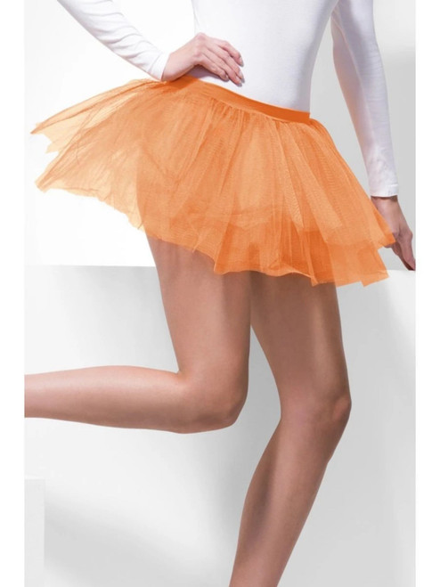"38"" Neon Orange Tutu Underskirt Women Adult Halloween Costume - One Size - IMAGE 1"