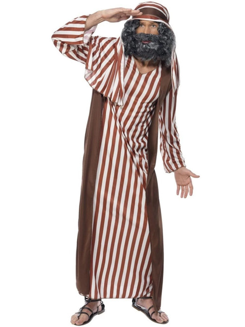 "49"" Brown and White Shepherd Men Adult Christmas Costume - Medium - IMAGE 1"