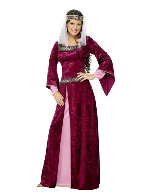 "43"" Purple Maid Marion Fashion Dress Halloween Costume - IMAGE 1"