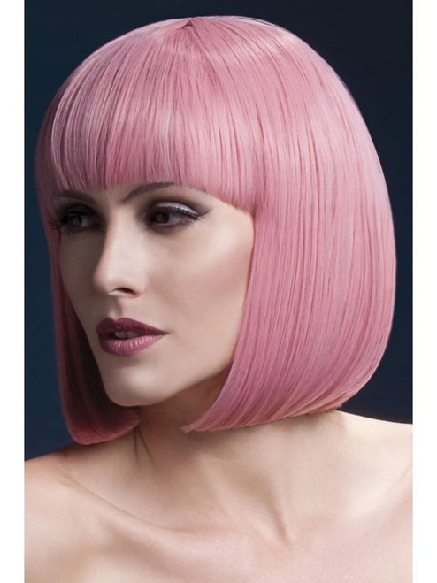 """26"""" Pastel Pink Fever Elise Short Hair Women Adult Halloween Wig Costume Accessory - One Size - IMAGE 1"""