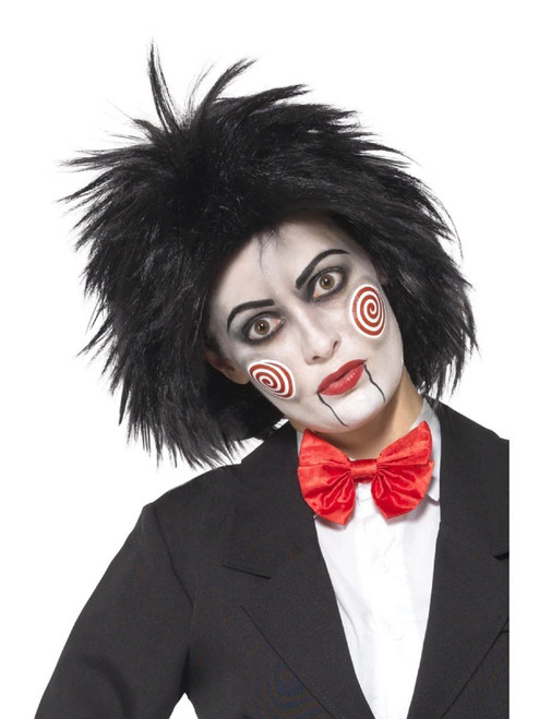 """26"""" Black Miss SAW Short Women Adult Wig Halloween Costume Accessory - One Size - IMAGE 1"""