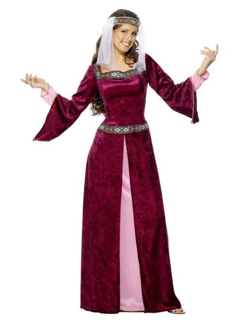 """43"""" Purple Maid Marion Women Adult Halloween Costume - Medium - IMAGE 1"""