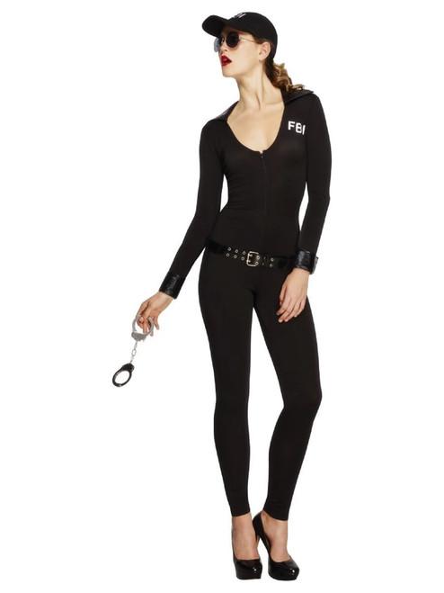 "49"" Black Fever FBI Flirt Women Adult Halloween Costume - Medium - IMAGE 1"