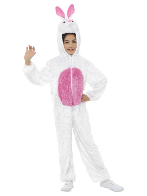 "50"" White and Pink Bunny Unisex Child Halloween Costume - One Size - IMAGE 1"