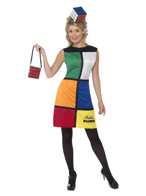 """49"""" Vibrantly Colored Rubik's Cube Second Skin Women Adult Halloween Costume - Small - IMAGE 1"""