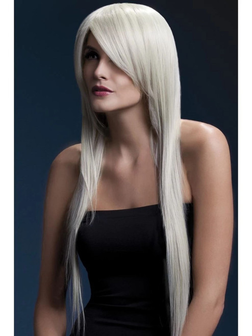 """26"""" Blonde White Fever Amber Long Straight Hair Women Adult Halloween Wig Costume Accessory - One Size - IMAGE 1"""