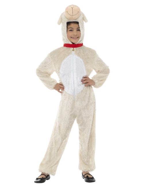 "50"" Cream White Animal Lamb Unisex Child Halloween Costume - IMAGE 1"