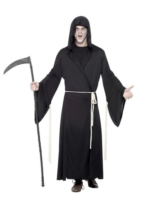 "49"" Black Grim Reaper Men Adult Halloween Costume - Medium - IMAGE 1"