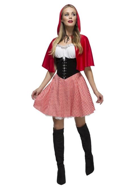 "49"" Red and Black Riding Hood Women Adult Halloween Costume - Medium - IMAGE 1"