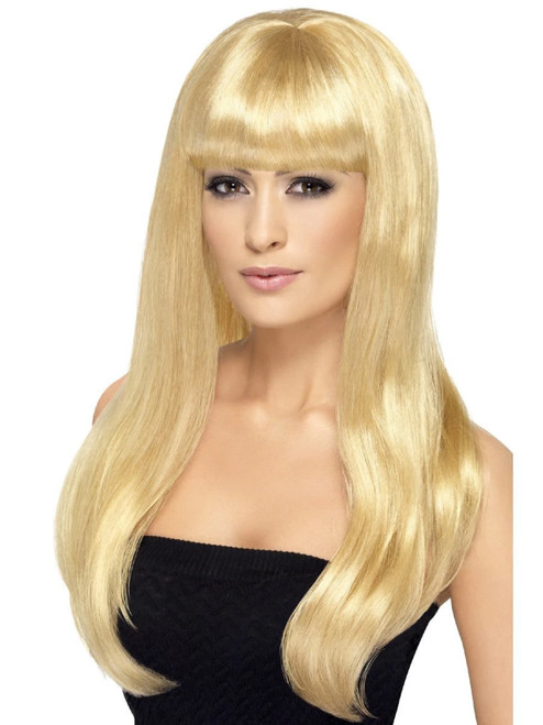 "26"" Blonde Babelicious Long Hair Women Adult Halloween Wig Costume Accessory - One Size - IMAGE 1"