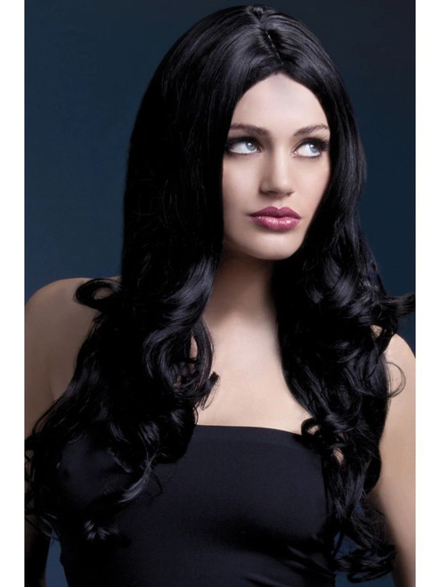"""26"""" Black Fever Rhianne Long Soft Curl Hair Women Adult Halloween Wig Costume Accessory - One Size - IMAGE 1"""
