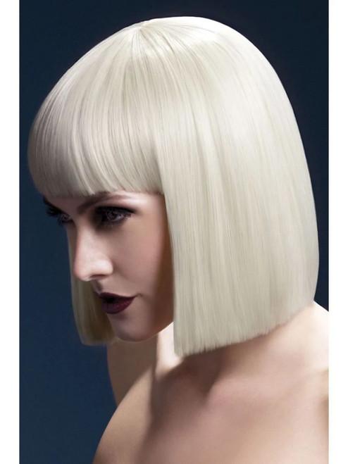 "26"" Blonde Fever Lola Blunt Cut Bob Women Adult Halloween Wig Costume Accessory - One Size - IMAGE 1"
