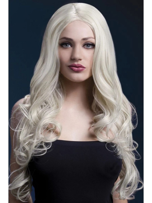 """26"""" Blonde Fever Rhianne Long Soft Curl Hair Women Adult Halloween Wig Costume Accessory - One Size - IMAGE 1"""