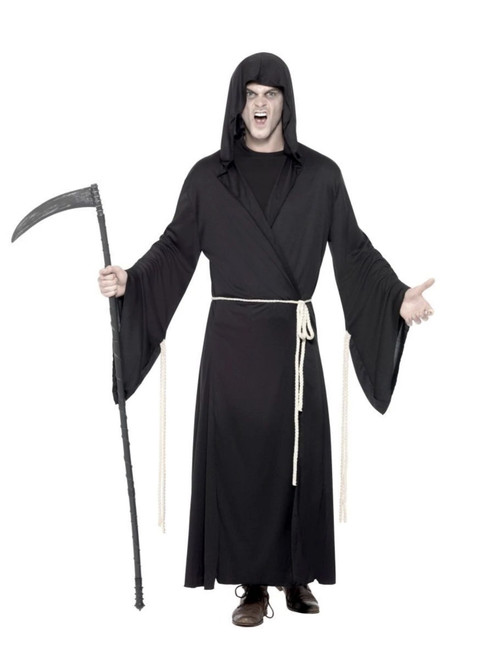 "49"" Black Grim Reaper Men Adult Halloween Costume - Large - IMAGE 1"