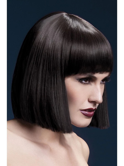"""26"""" Brown Fever Lola Blunt Cut Bob Women Adult Halloween Wig Costume Accessory - One Size - IMAGE 1"""