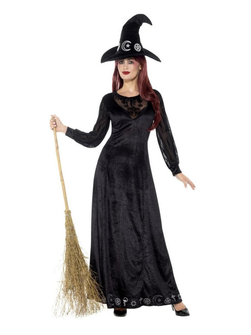 """49"""" Black Deluxe Witch Craft Women Adult Halloween Costume - Large - IMAGE 1"""
