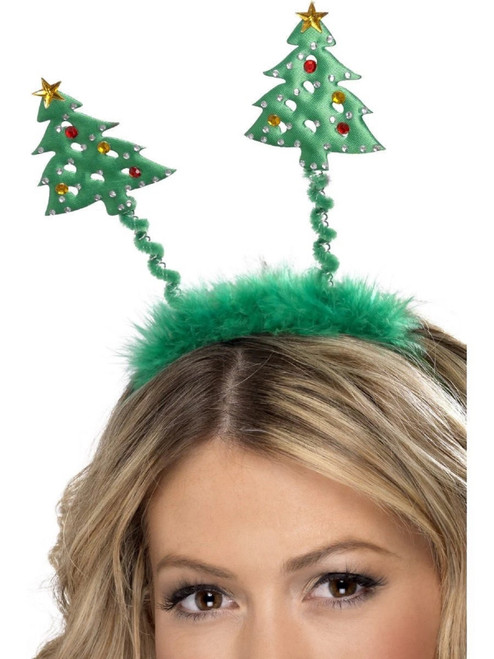 """19"""" Green Tree Boppers Unisex Adult Headband Christmas Costume Accessory - One Size - IMAGE 1"""