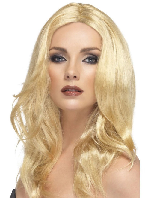 "26"" Blonde Glamour Wavy Long Superstar Women Adult Halloween Wig Costume Accessory - One Size - IMAGE 1"