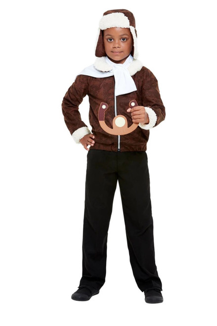 """49"""" Brown and White WW1 Pilot Unisex Child Halloween Costume - Large - IMAGE 1"""