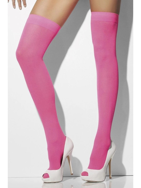 """20"""" Pink Opaque Women Adults Halloween Hold-Ups Costume Accessory - One Size - IMAGE 1"""