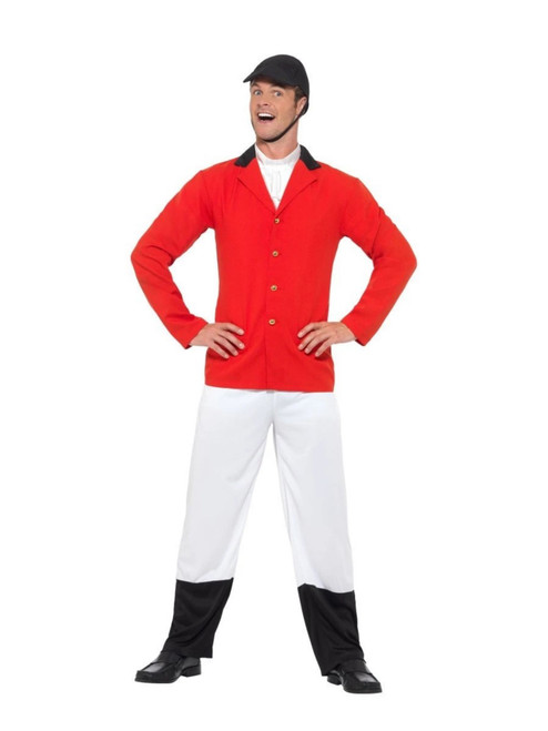 """49"""" Red and White Huntsman Men Adult Halloween Costume - XL - IMAGE 1"""