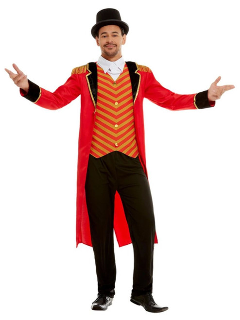 """41"""" Red and Black Ringmaster Men Adult Halloween Costume - XL - IMAGE 1"""