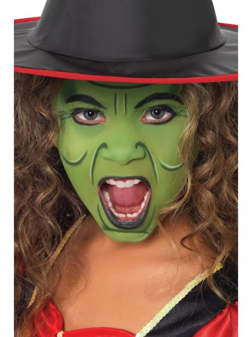 """20"""" Green Face and Body Unisex Adult Crayon Stick Make Up FX Costume Accessory - IMAGE 1"""