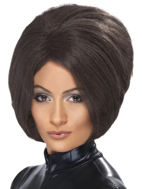 """26"""" Brown 1990 Style Posh Power Short Bob Women Adult Halloween Wig Costume Accessory - One Size - IMAGE 1"""