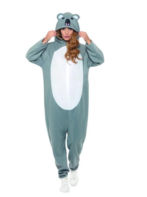 "41"" Gray and White Koala Bear Party Women Adult Halloween Costume - Large - IMAGE 1"