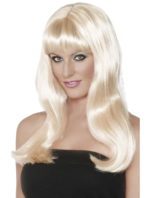 "26"" Blonde Yellow Long Mystique Women Adult Halloween Wig Costume Accessory - One Size - IMAGE 1"
