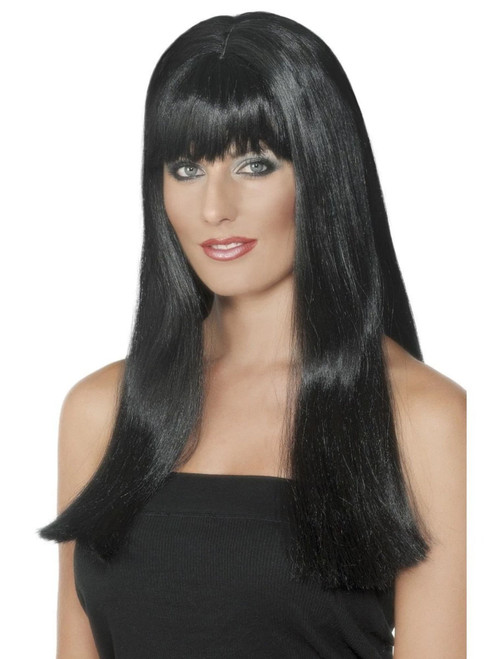 """26"""" Black Long Mystique Women Adult Halloween Wig Costume Accessory - One Size - IMAGE 1"""