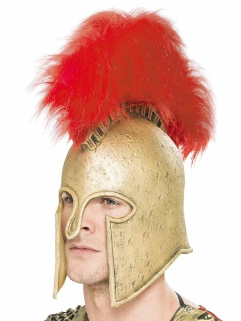 """42"""" Gold and Red Roman Armor Men Adult Halloween Helmet Costume Accessory - One Size - IMAGE 1"""